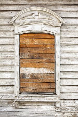 texture wooden wall with boarded-up Windows Stok Fotoğraf