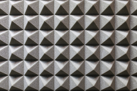 the texture of the polyurethane foam to isolate sound