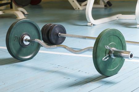 sports rod on the floor in the gym 版權商用圖片