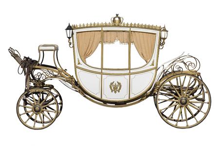 carrozza d'epoca isolato su sfondo bianco