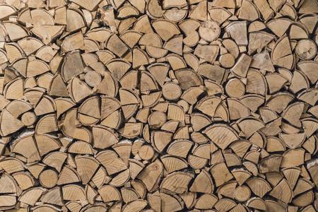 wood texture of split logs Stock Photo