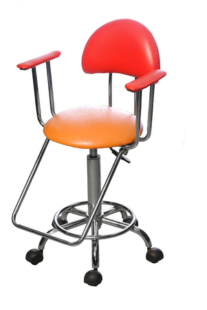 hairdressing chair for children isolated on white background