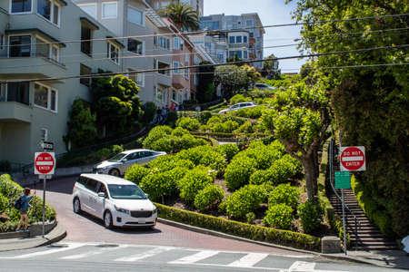 Curvy Lombard Street in San Francisco