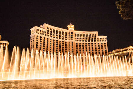 Die Party-Metropole Las Vegas bei Nacht.