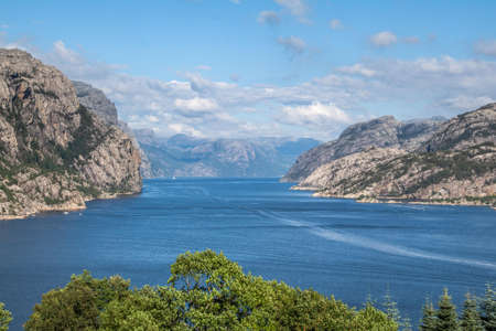 In Forsand, the view stretches far beyond the Lysefjord.