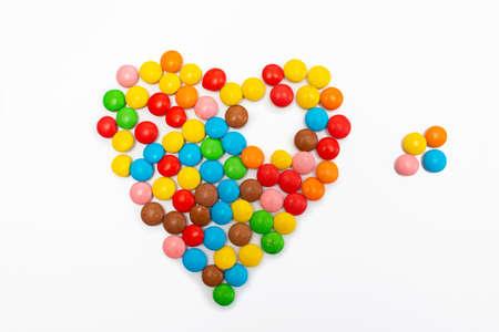 Part of the heart, broken heart, missing part in the heart 免版税图像
