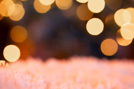 Blurred round bokeh background for postcard with place to insert text