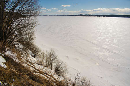 Views of the river Volga in the winter