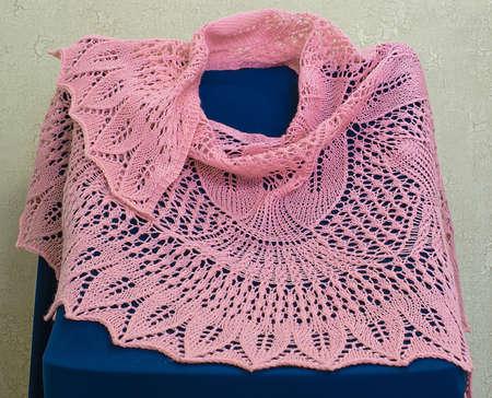 Knitted woolen women's shawl Reklamní fotografie