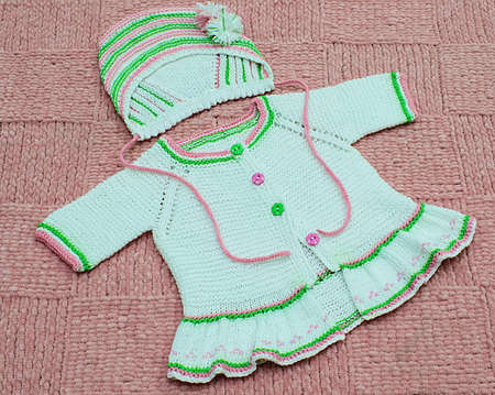 Children's knitted clothes