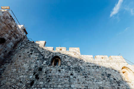 mideast: Jerusalem western wall view, Al-Aqsa Mosque and Jerusalem Archaeological Park Israel, Middle East Stock Photo