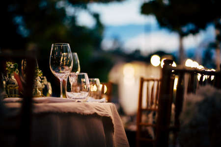 Luxury Table setting for party, Christmas, holidays and weddings. 写真素材