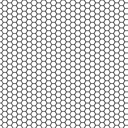 Seamless pattern hexagonal cell texture, grid background, honeycomb, vector