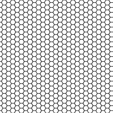 Seamless pattern hexagonal cell texture, grid background, honeycomb, vector