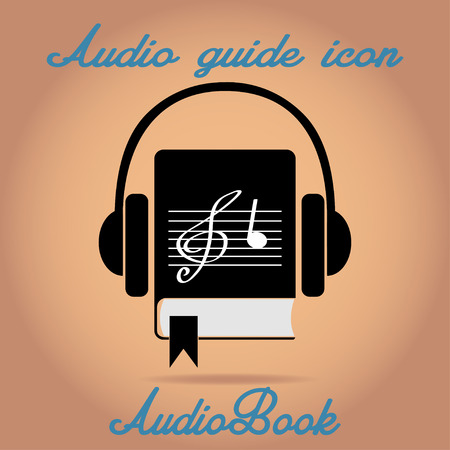 audiobook: Audio guide audiobook  or music icon