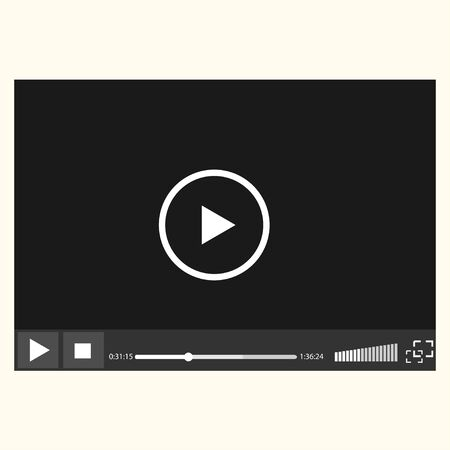 easily: Video player easily editable on white background