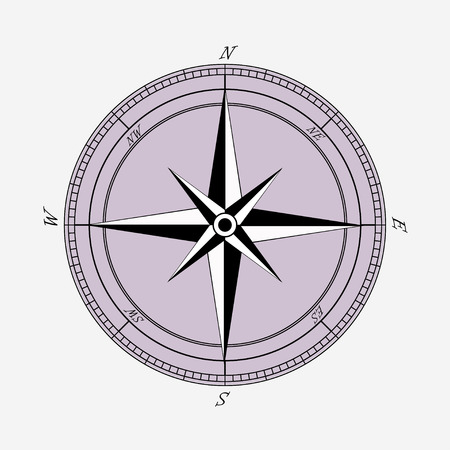 latitude: vintage Compas with wind rose sign, background, vector