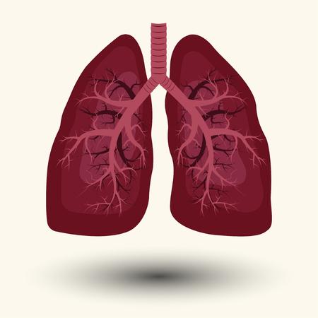 inhale: Human lung emblem, Human lung icon, Human lung sign, Human lung illustration, Human lung cartoon style design, medicine, clinic symbol design, cancer diagnostics center, vector Illustration
