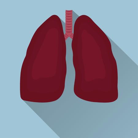 circulate: Human lungs emblem, Human lungs icon, Human lungs sign, Human lungs illustration, Human lungs flat design, medicine, clinic symbol flat design, cancer diagnostics center, vector