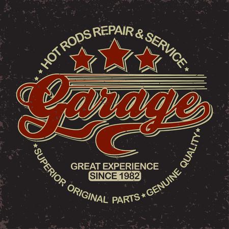 Grunge Motorcycle vintage graphics, Hot rods typography print, Biker T-shirt stamp, teeshirt graphic, vintage Motorcycle garage Emblem, grunge vintage hot rods service center emblem, vector Stock Illustratie