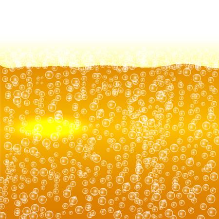 Bier met schuim en bubbels achtergrond