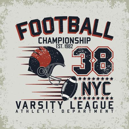 Grunge Sport t-shirt graphic design, Vintage Sport print stamp, Sports wear typography emblem, Creative design Vektorové ilustrace