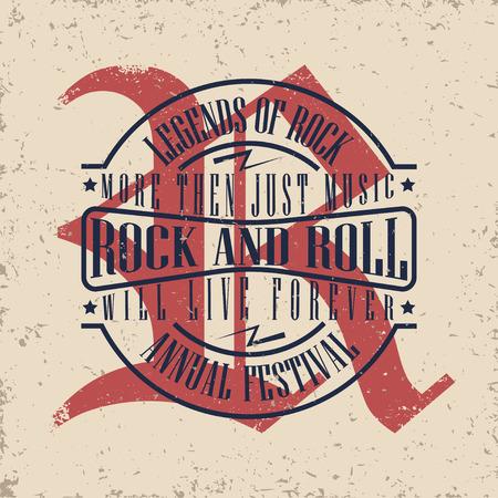notable: Grunge Monochrome Rock music print, hipster vintage label, graphic design with grunge effect, rock-music tee print stamp design. t-shirt print lettering artwork
