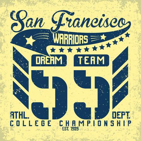 sports wear: Grunge t-shirt graphic design,  vintage print stamp, Sports wear typography emblem, Creative design, Vector Illustration