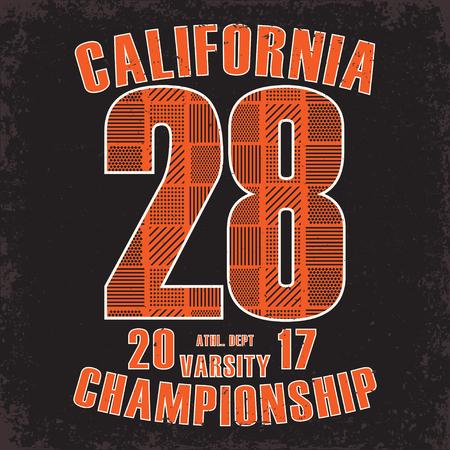 la: Grunge t-shirt graphic design,  vintage print stamp, Sports wear typography emblem, Creative design, Vector Illustration