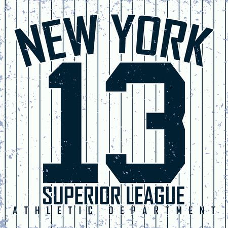 grange: Vintage t-shirt graphic design,  grange print stamp, New York athletic typography emblem, Vector Illustration