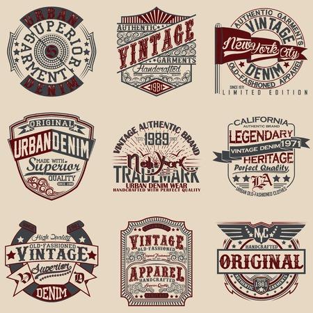 Set of Vintage typography