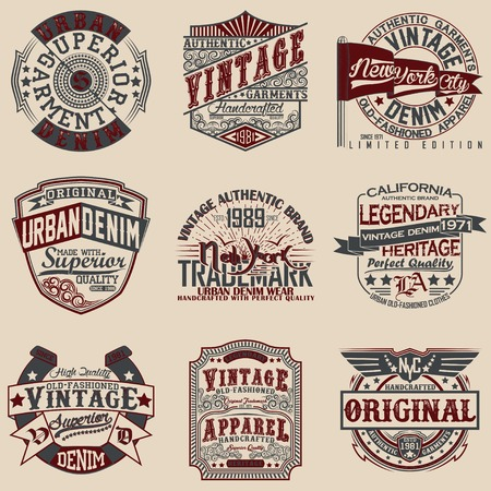 Set of Vintage typography