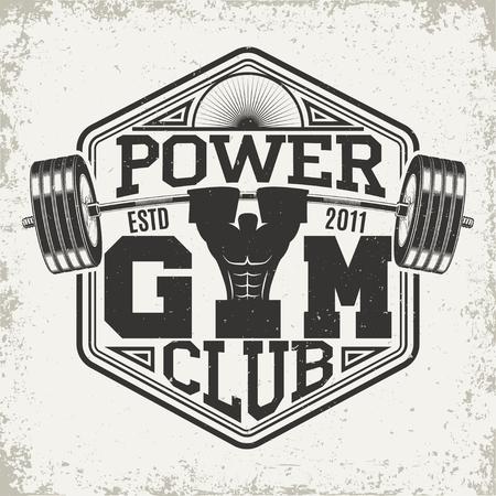 Vintage t-shirt graphic design,  grange print stamp, fitness typography emblem,  gym sports logo Creative design, Vector Stock Vector - 72797635
