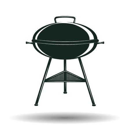 barbecue stove: Monochrome BBQ grill sign