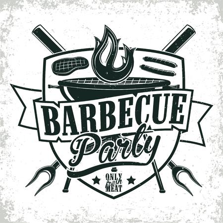 vintage logo design Illustration