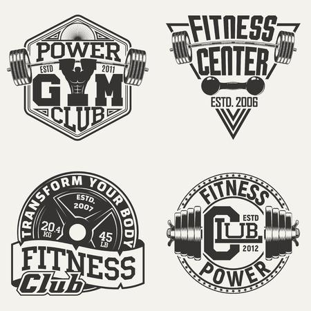 Set of Vintage t-shirt graphic designs,  grange print stamps, fitness typography emblems,  gym sports logo Creative design, Vector