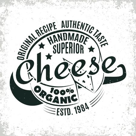 Cheese 100% organic banner.