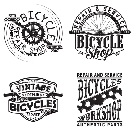 Set of vintage bicycles club logo designs.