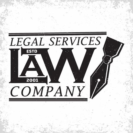Law firm logo design, emblem of lawyer agency or notary, vintage court logo or typography emblem, Vector Stock fotó - 101683382