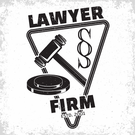 Law firm logo design, emblem of lawyer agency or notary, vintage court logo or typography emblem, Vector Stock fotó - 101699778