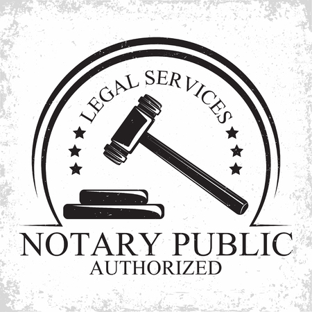 Law firm logo design, emblem of lawyer agency or notary, vintage court logo or typography emblem, Vector Stock fotó - 101683385