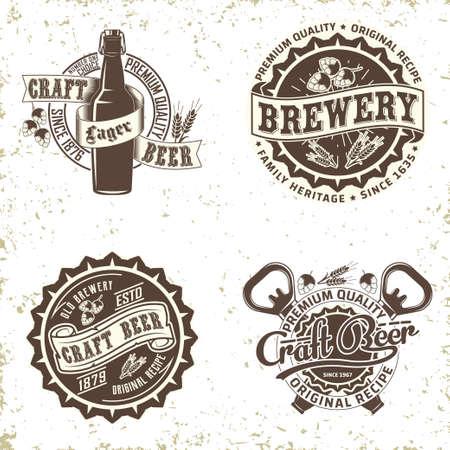vintage beer  design Ilustracja