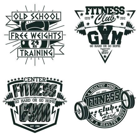 vintage fitness emblem design Ilustracja