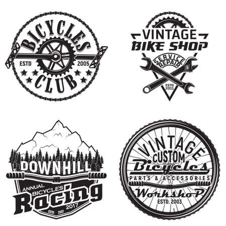 Set of cycle vintage emblems
