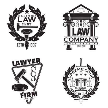 vintage law emblem design