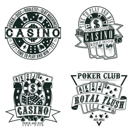 vintage casino emblem  design Stock Illustratie