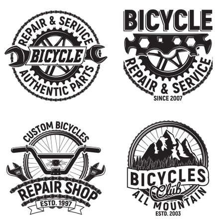 Set of bike emblems