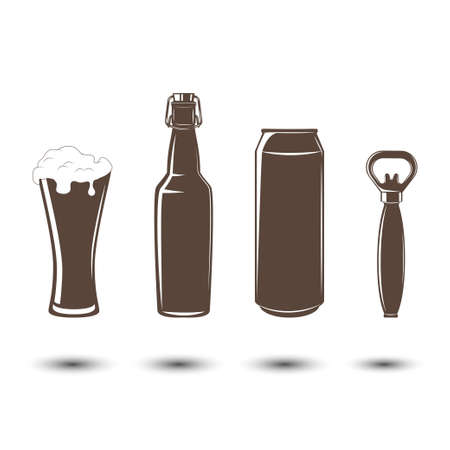 elements for beer emblems Vettoriali