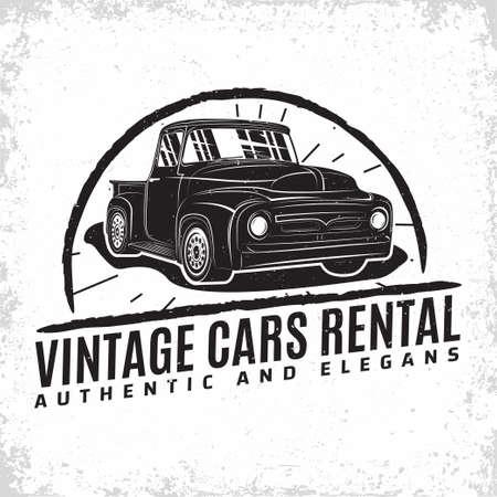 Hot Rod garage   design, emblem of muscle car repair and service organization, retro car garage print stamps, hot rod typography emblem, Vector Stock Illustratie