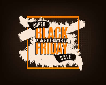 Black Friday banner or background for promotion, Template for Black Friday sale, vector Иллюстрация